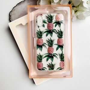 SONIX iPhone X pineapple clear case